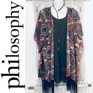 PHILOSOPHY outfit bundle kimono duster shift dress